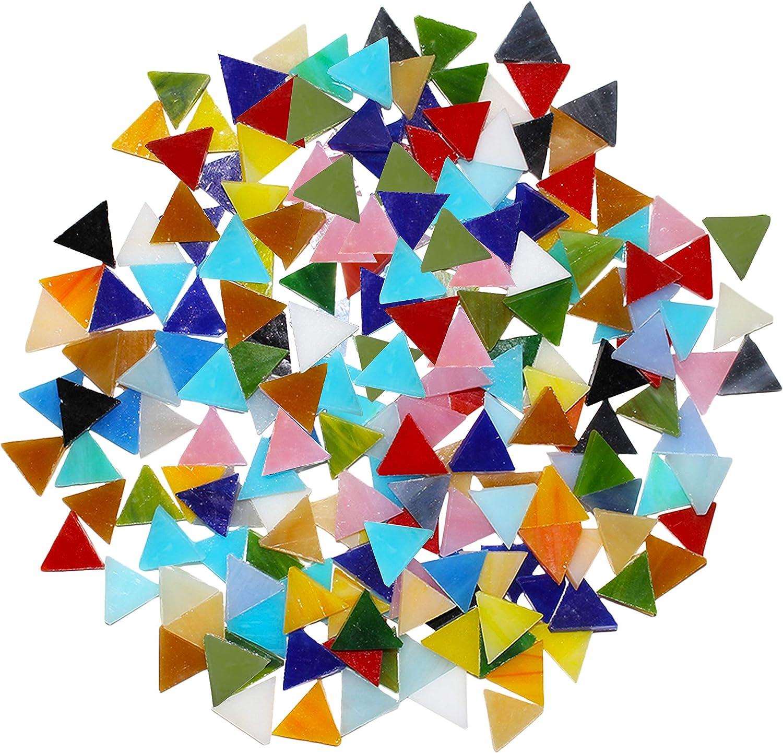 Mosaic SILVER Mirror Glass LARGE Triangular 3 x 3 x 3 cm 2mm thick 15 pcs
