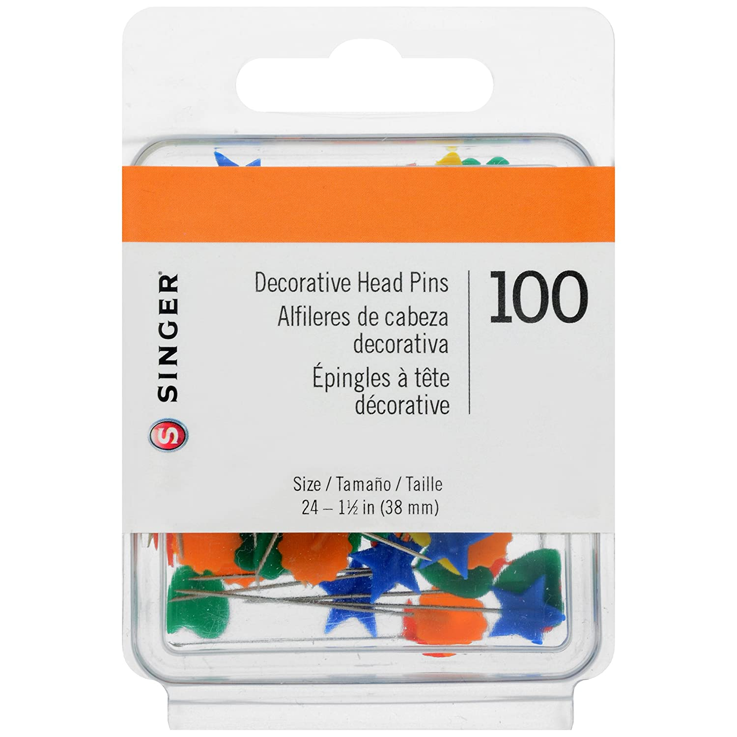 Singer Decorative Head Straight Pins, 100-Count Dyno Merchandise 00359