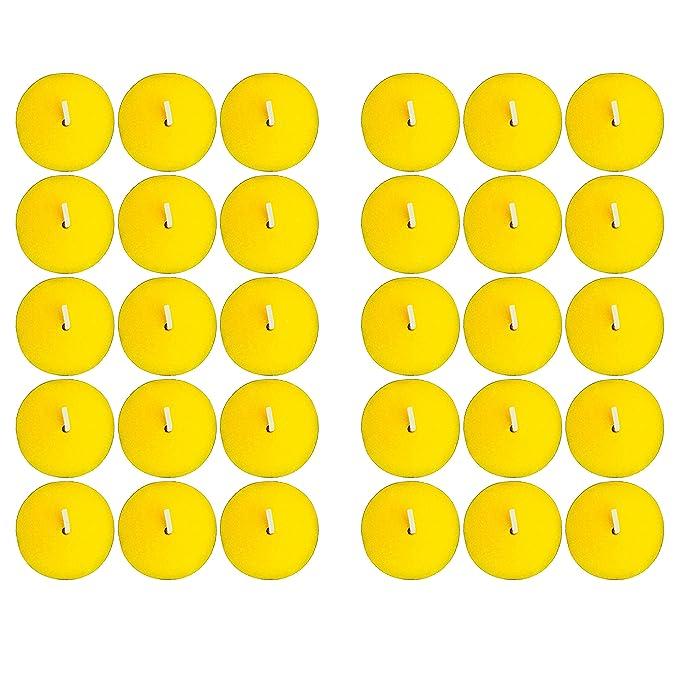 KELOPEST 30x Citronella Kerzen mit frischem Zitronenduft - Anti Mücken Kerze mit bis zu 5h Brenndauer + Gratis Anzündstab & E