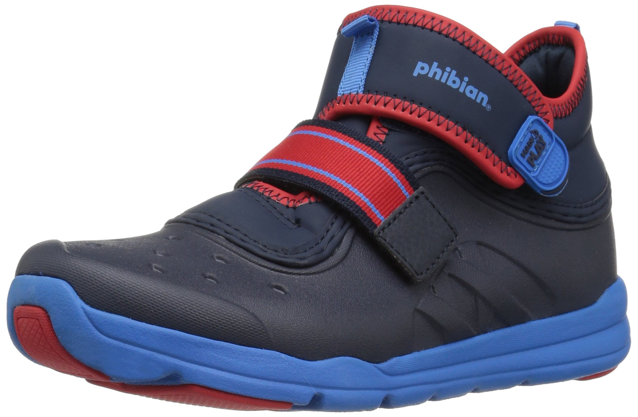 Stride Rite Boys' Made 2 Play Phibian Mid Ankle Boot, Navy, 7 M US Toddler