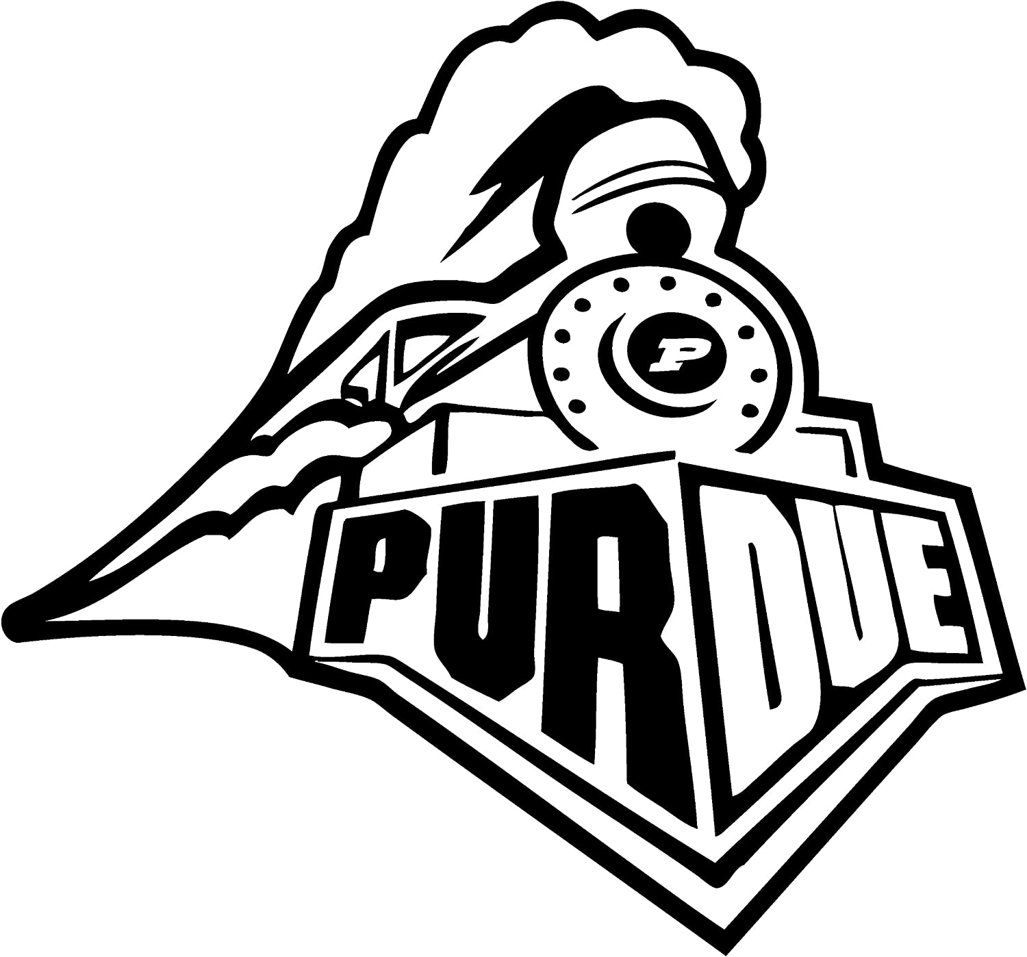 TDT Printing & Custom Decals Purdue Boilermakers Vinyl Decal Sticker for Car or Truck Windows, Laptops etc.