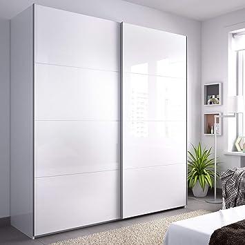 HOMEKIT Armarios 2 Puertas correderas, Blanco Brillo, 180x204x65cm ...