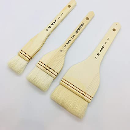 Pro Art PRO8718-1 Bristle Hake Paintbrush Natural