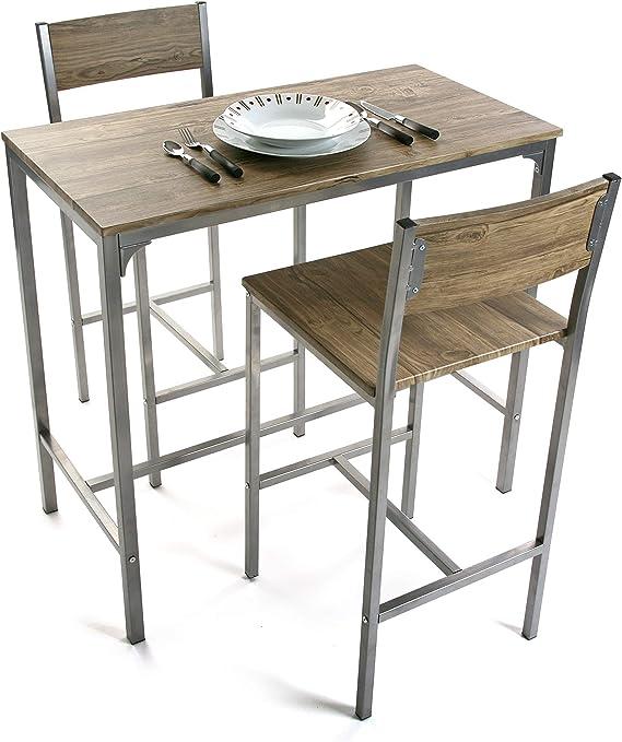 Versa 20880041 Juego de Mesa y Dos sillas, Roble, Madera, 45x89x87 cm: Amazon.es: Hogar