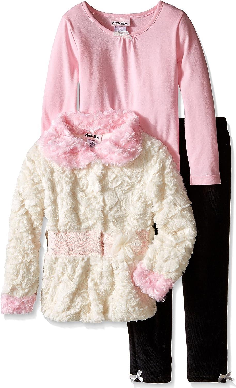 Little Lass Little Girls 3-Piece Tiered Sweater Set