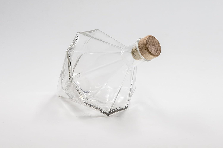 Covim nr 1 glass bottle Diamond 500 ml flint glass cork stopper n°59