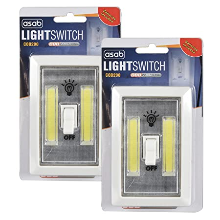 Night light wall switch set of 2 wireless battery led lamp night light wall switch set of 2 wireless battery led lamp ideal childrens mozeypictures Choice Image