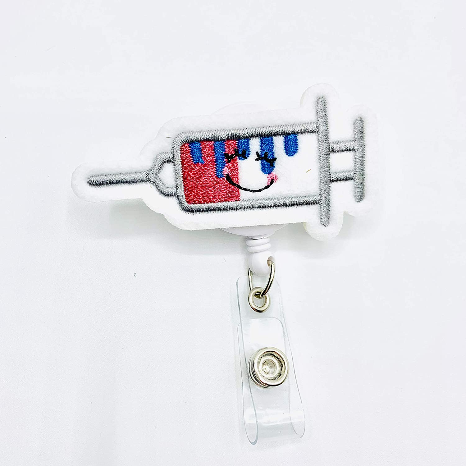 Amazon.com: Syringe Retractable Badge Reel Holder ...