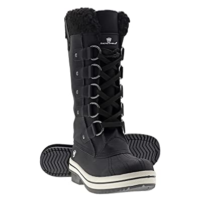 ArcticShield Women's Warm Comfortable Insulated Waterproof Durable Outdoor Winter Snow Boots Size 8.0 Black   Mid-Calf