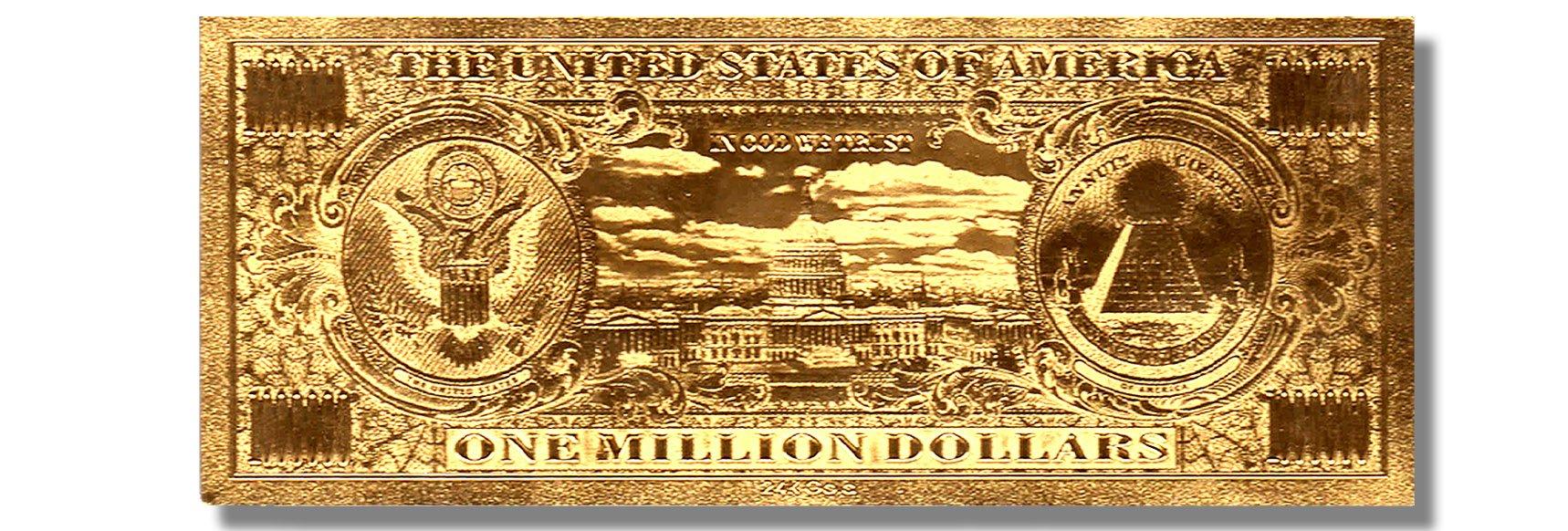 American Art Classics Gold Million Dollar Bill Commemorative by American Art Classics (Image #5)