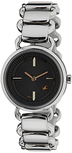 7. Fastrack Analog Black Dial Women's Watch