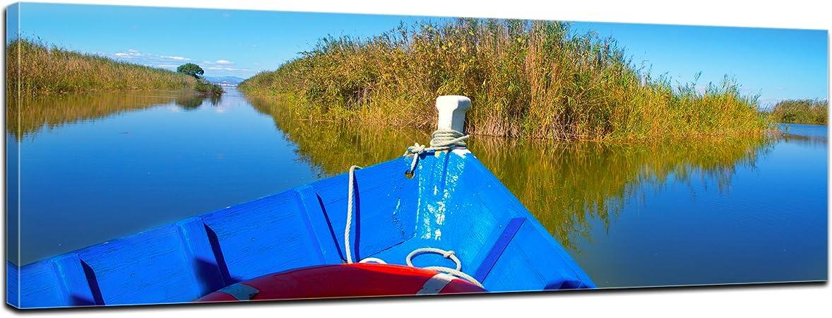Bilderdepot24 Cuadros en Lienzo Barco Azul en la Albufera ...
