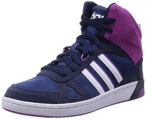 eebd77245692 Adidas - Hoops Team Mid W - F98856 - Color  Navy Blue-Violet-White ...