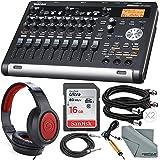 Tascam DP-03SD Digital Portastudio 8-Track Recorder with Samson Studio Headphones and Accessory Bundle