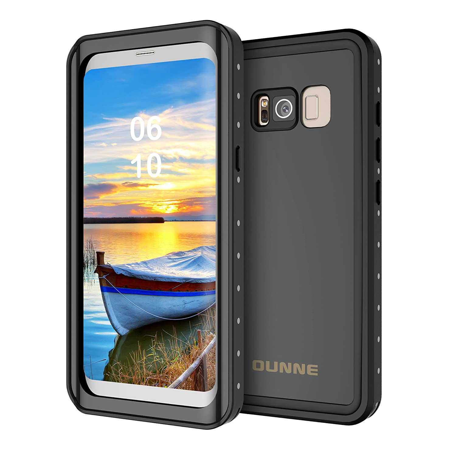 Samsung Galaxy S8 Plus Waterproof Case  OUNNE Shockproof Protective Case with Dirtproof Snowproof Full Body Cover for Galaxy S8 Plus(6.2 inches)  Black OUNNE001 4326539509