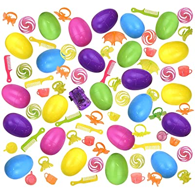 Kangaroos Easter Eggs with Toys Inside -Easter Egg Hunt - Assorted Surprise Easter Egg - Colorful Easter Eggs for Kids - Bulk Easter Egg for Easter Theme Party - Pack of 24: Toys & Games