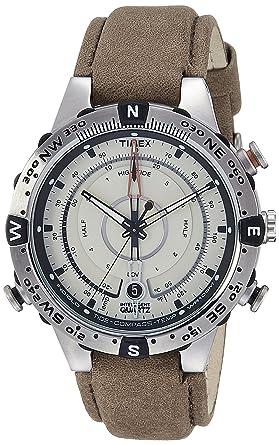 7ec9bd6053ee Timex Intelligent Quartz Compass Chronograph Off-White Dial Men s Watch -  T2N721