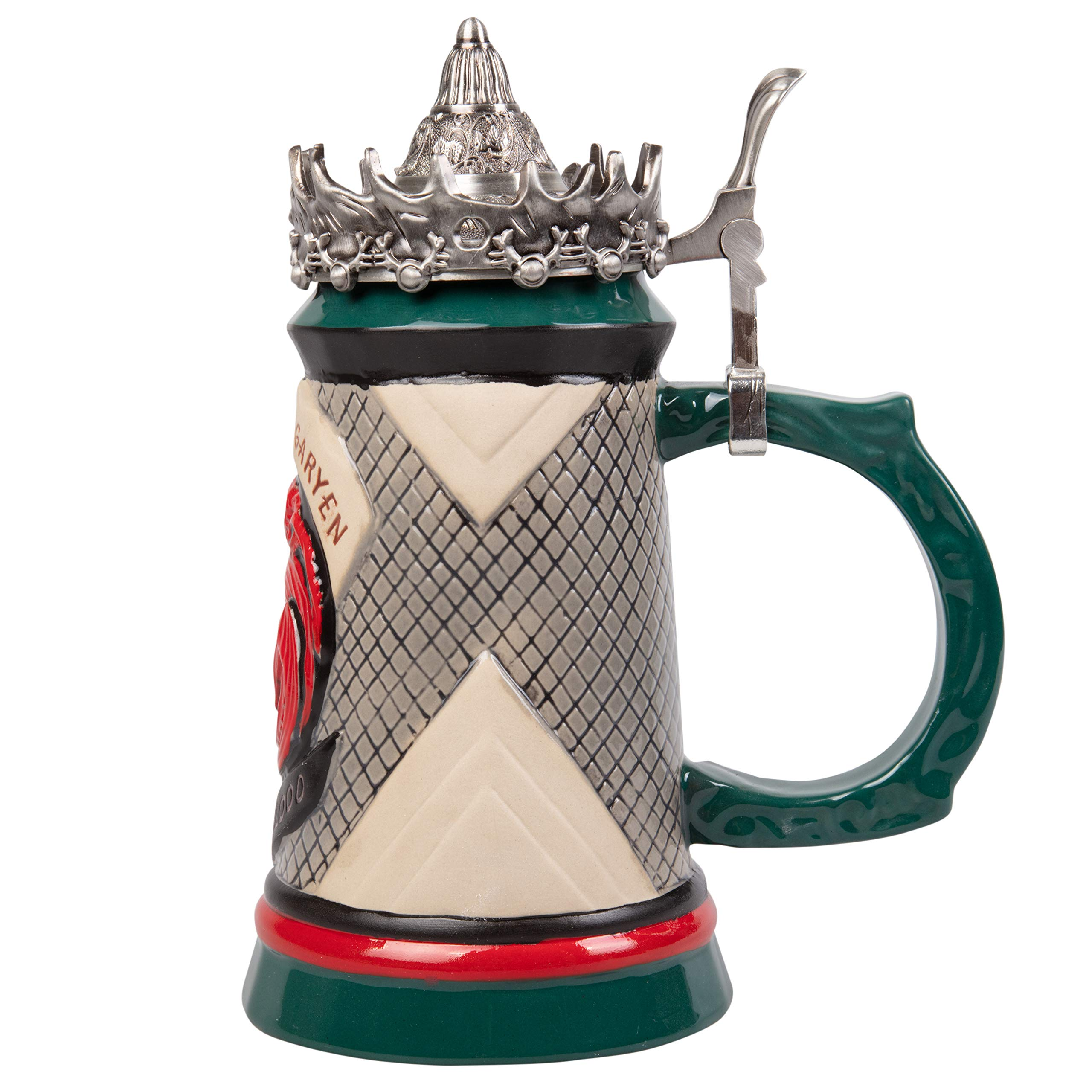 Game of Thrones House Targaryen Stein - 22 Oz Ceramic Base with Pewter Baratheon Crown Top by Game of Thrones (Image #3)