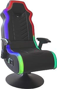 """X Rocker, 5152401, RGB Prism Pedestal Chair 2.1 Dual with LED, 33"""" x 25"""" x 45"""", Black"""