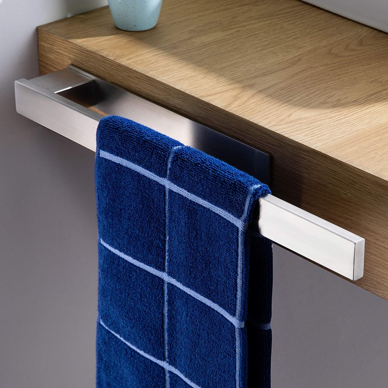 39cm KEGII Bad Handtuchhalter Ohne Bohren Selbstklebend Handtuchstange Badetuchhalter Edelstahl Geb/ürstet