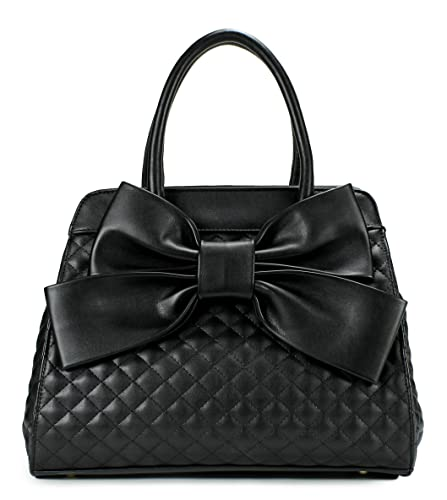 Scarleton Quilted Satchel H104801N - Black: Handbags: Amazon.com