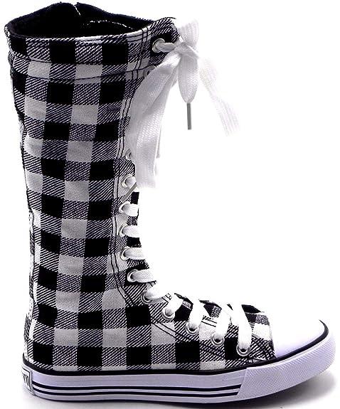 Amazon.com: Zapatos de lona para niñas Dev-10 de estilo punk ...