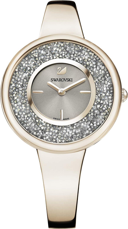 Swarovski Reloj Crystalline Pure, para Mujer, Brazalete en metal, PVD en tono Oro Champán