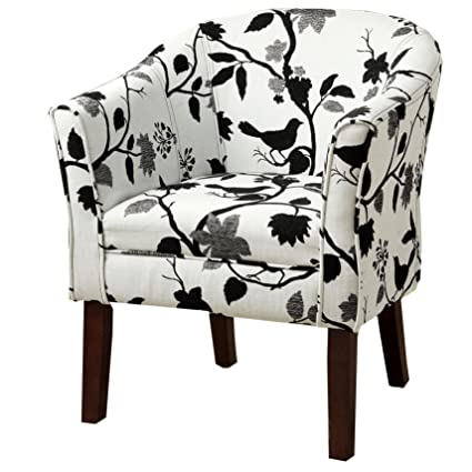 Amazoncom Upholstered Accent Chair Black And White Kitchen Dining