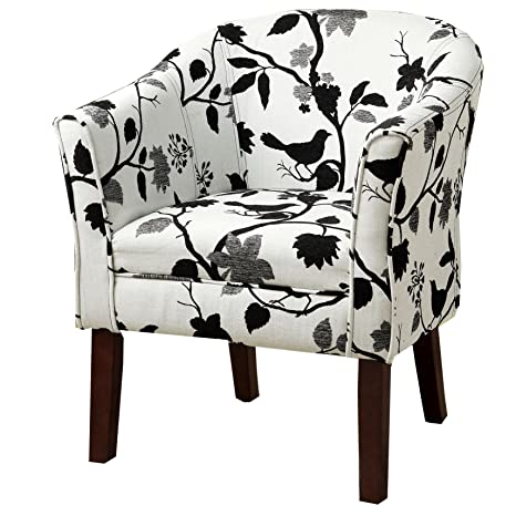 Amozon Accent Chairs.Upholstered Accent Chair Black And White