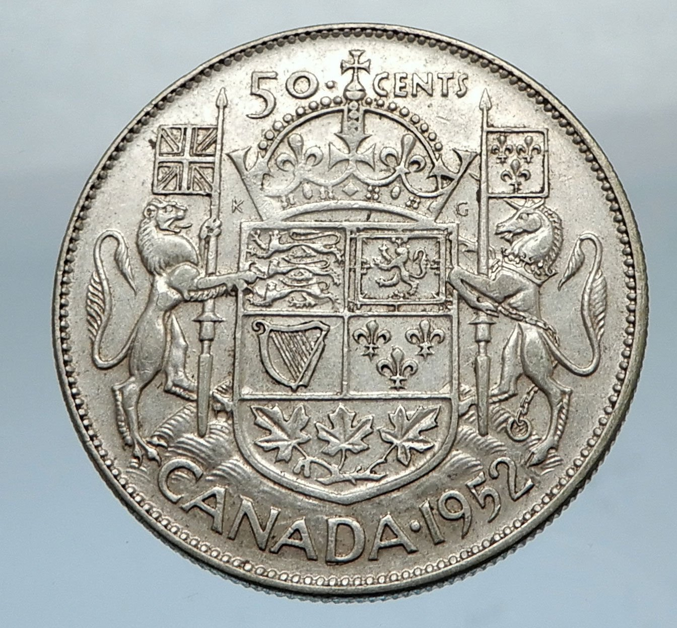 Canada Large Silver 50 Cents Coin Uk Kin Coin Good At Amazons Collectible Coins Store