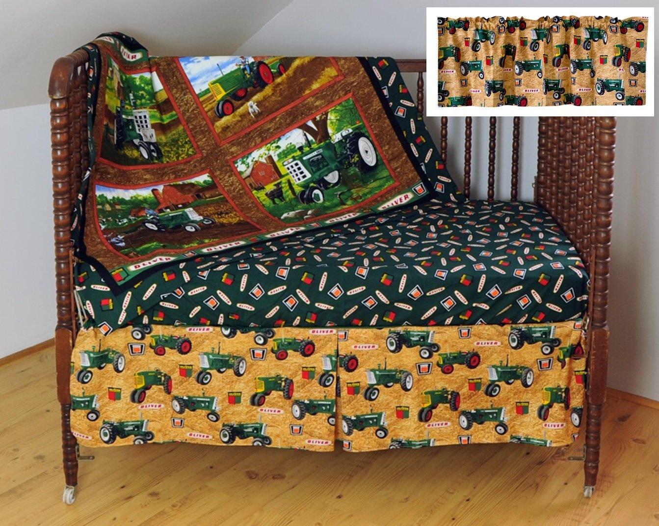 Oliver Tractor Crib Bedding Set