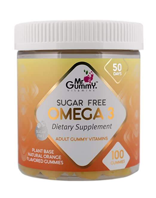 Amazon.com: Mr Gummy Vitamins Omega 3 Sugar Free Premium Supplement | Rich In 100% Natural Non-GMO Omega 3 Fatty Acids - Gluten, Soy & Dairy Free | [100 ...