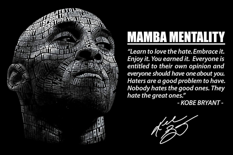 """Kobe Bryant Poster 11"""" x 17"""" Mamba Mentality Wall Poster Basketball"""