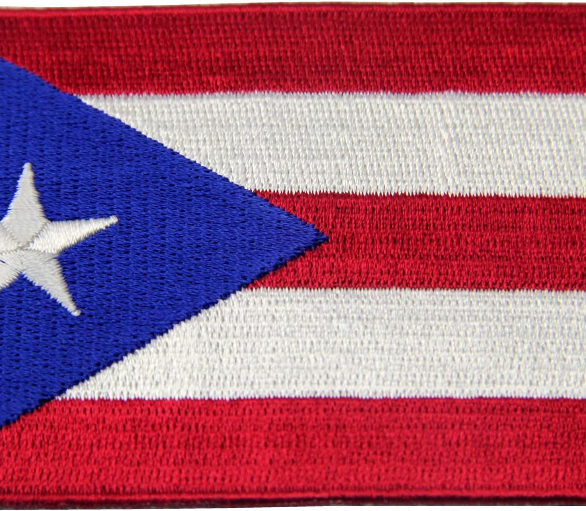 PUERTO RICO w//FLAG Iron On Patch Puerto Rican