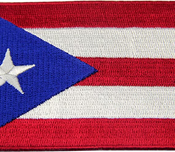 PUERTO RICO BORICUA ESTADO STATE BANDERA EMBROIDERED IRON ON PATCH SHIPS FREE