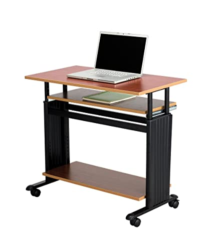 Beau Safco Products 1926CY Muv 29 34 H Stand Up Desk Adjustable Height Computer  Workstation