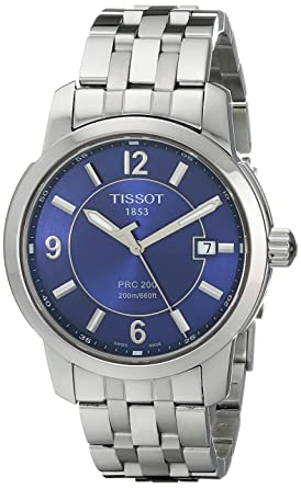 f170e60cfd0 Image Unavailable. Image not available for. Color  Tissot Men s  T0144101104700 PRC 200 Stainless Steel Blue Dial Watch