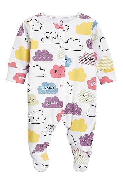 next Bebé-Niñas Pijama Tipo Pelele con Motivos De Nube (0 Meses - 2