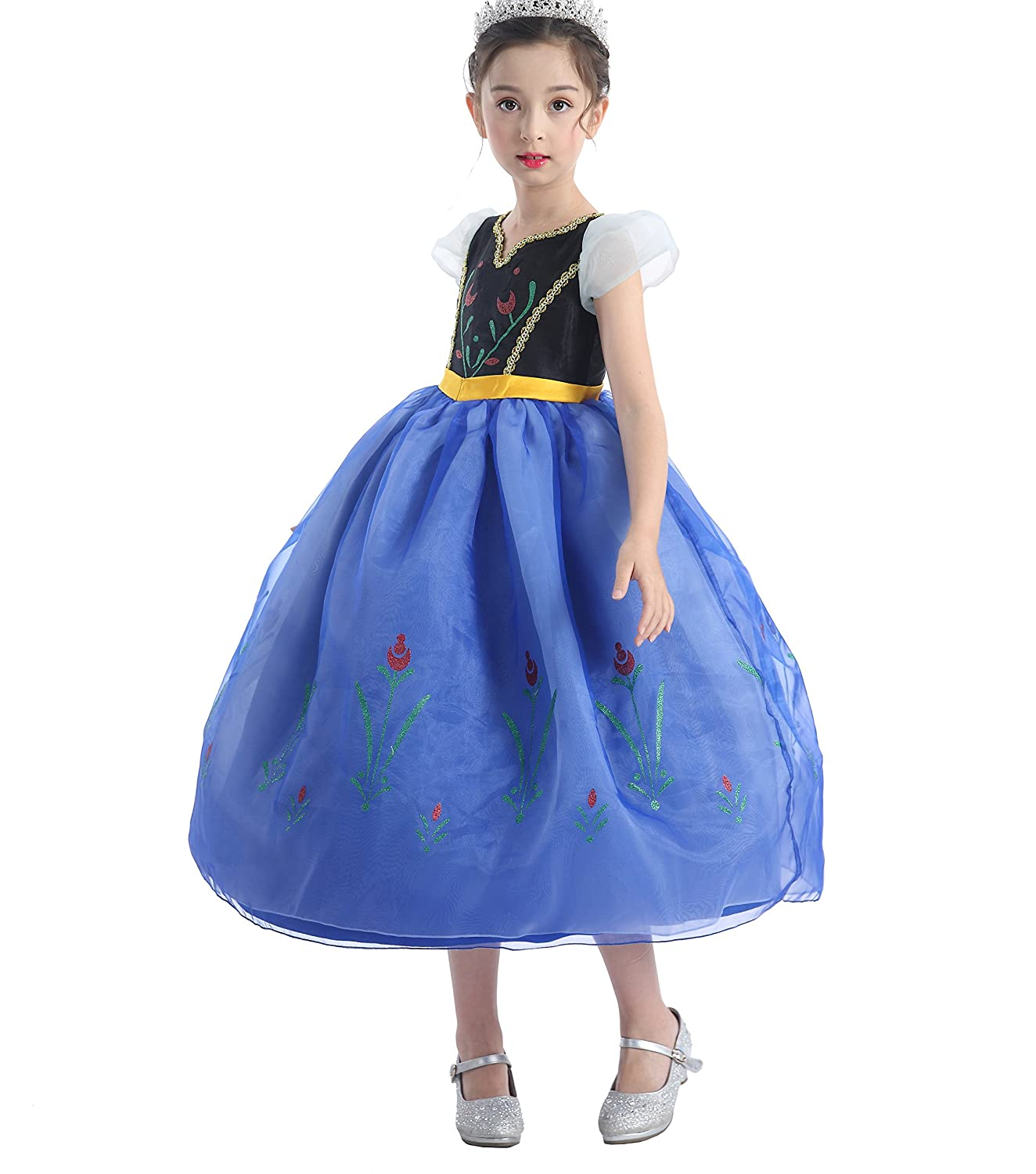10 Dressy Daisy Girls Princess Anna Dress Up Costumes Fancy Party Dress Halloween Outfit