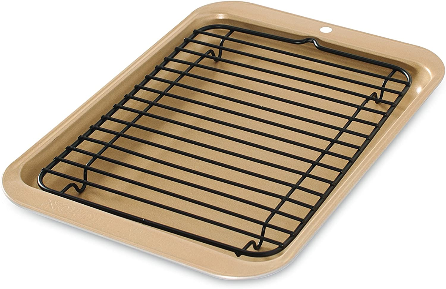 B00004RFS8 Nordic Ware 42210 Toaster Oven 2-Piece Broiler, Metalic Gold 81Ma96924dL