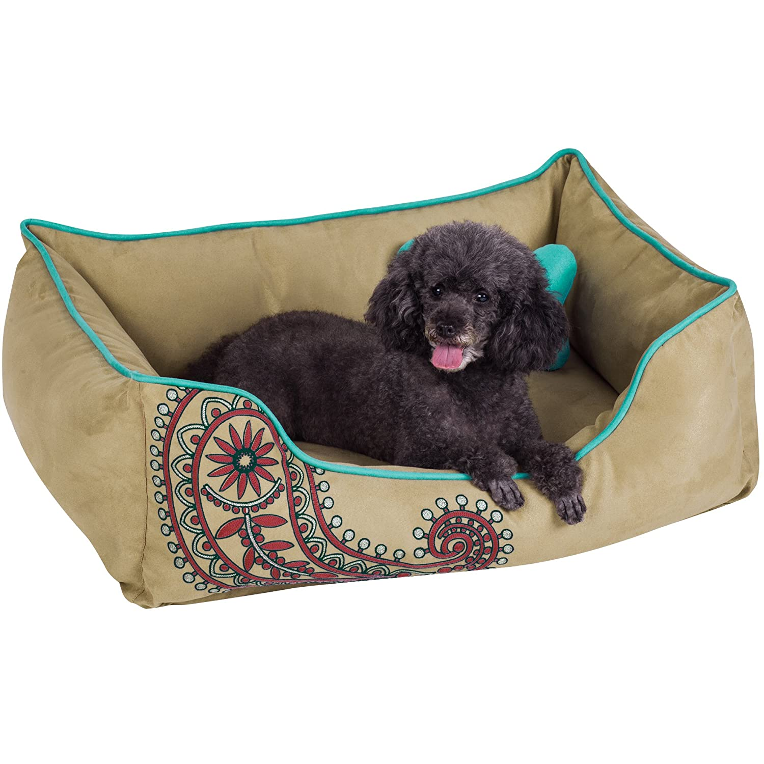 Blueberry Pet Heavy Duty Pet Bed or Bed Cover, Removable Washable Cover w YKK Zippers, Shop a Whole Bed with Cover for Change