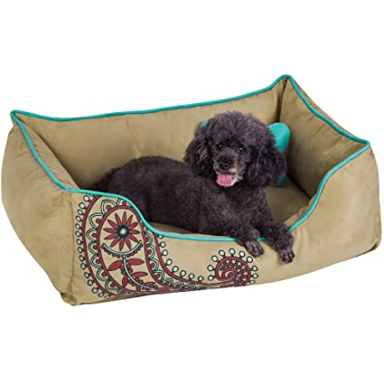 Amazon Com Blueberry Pet Heavy Duty Microsuede Overstuffed Bolster
