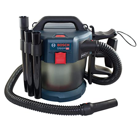 Bosch Professional Akku-Staubsauger GAS 18V-10 L (ohne Akku und Ladegerät, Flachfaltenfilter, Bodendüse, Fugendüse, Volumenst