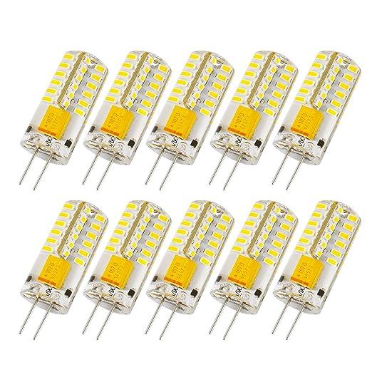 Lampadine Led G4 12v.Liqoo 10x 3w G4 Led Lamp Light Bulb Spotlights Ac Dc 12v 360 Degrees