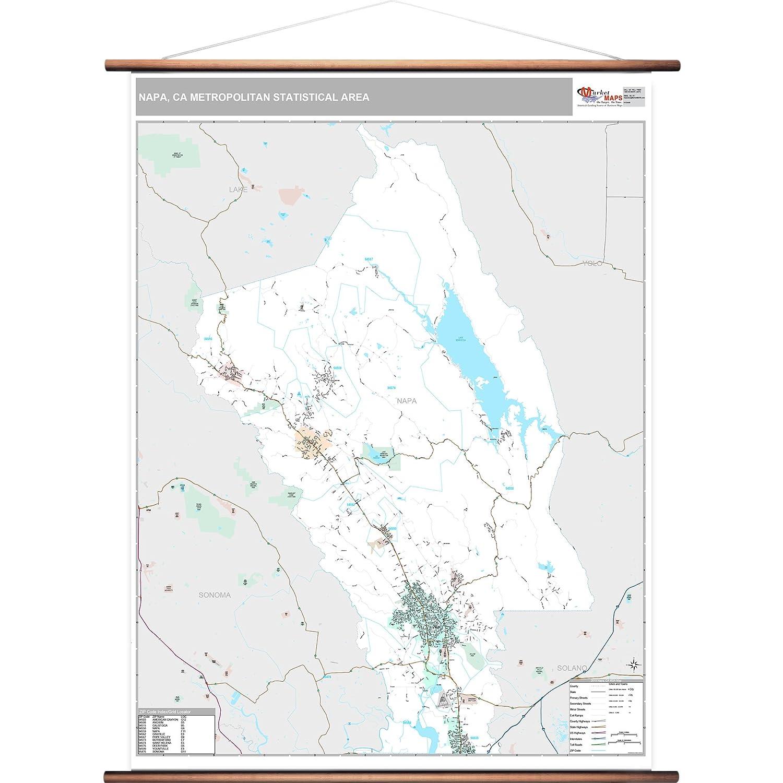 Napa Zip Code Map.Amazon Com Marketmaps Napa Ca Metro Area Wall Map 2018 Zip