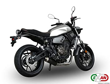 Yamaha XSR 700 Exan Exhaust FULL SYSTEM Silencer X GP Black Stainless Steel New