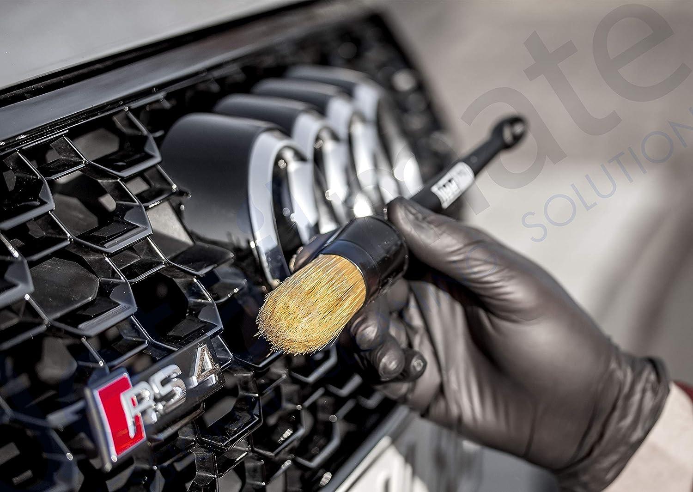 extra Lange Profi Felgenb/ürste 2 Nitril Schutzhandschuhe detailmate ValetPRO Long Reach Wheel Brush