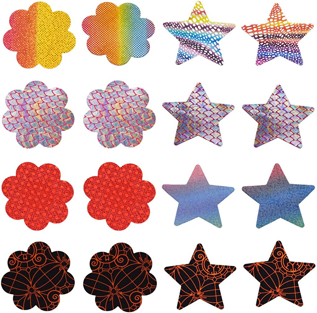 Women Pasties Disposable Breast Petals Stain Nipple Cover 8 Pairs