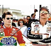$115 » Jeff Gordon Dupont NASCAR Racing Signed 8x10 Photo W/Dale Earnhardt Sr W/COA - Autographed NASCAR Photos