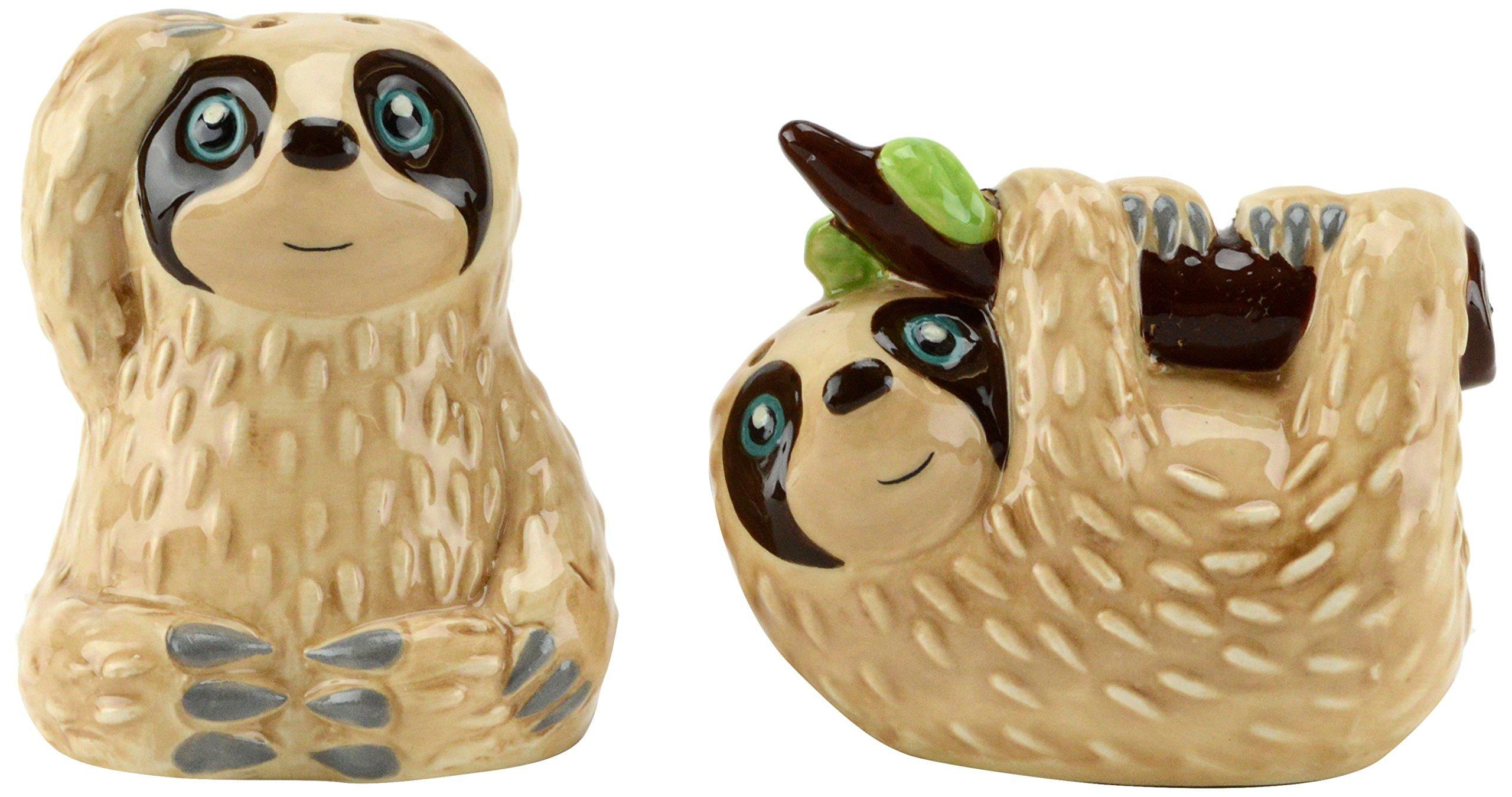 Boston Warehouse 38424 Slow Sloth Salt and Pepper Shakers
